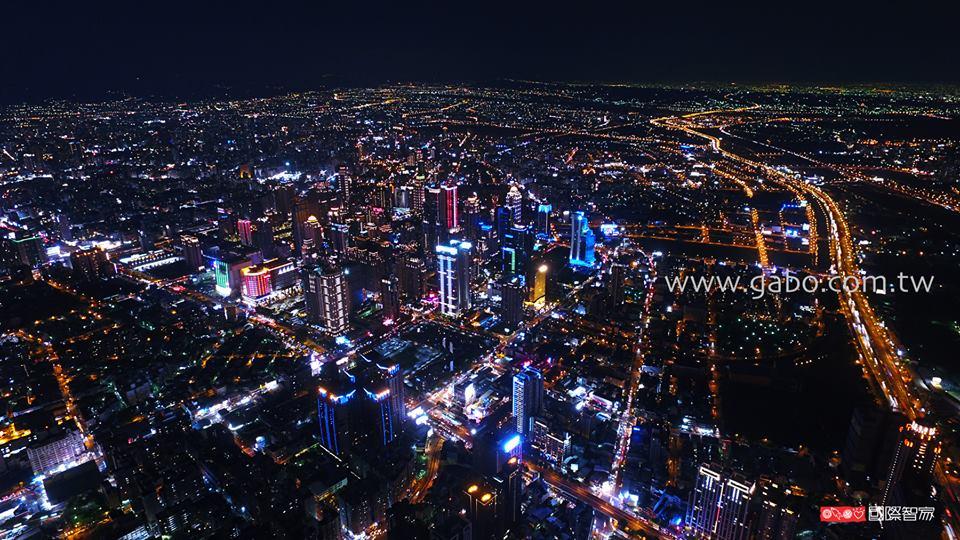 gabo.國際智家.台中空拍夜景